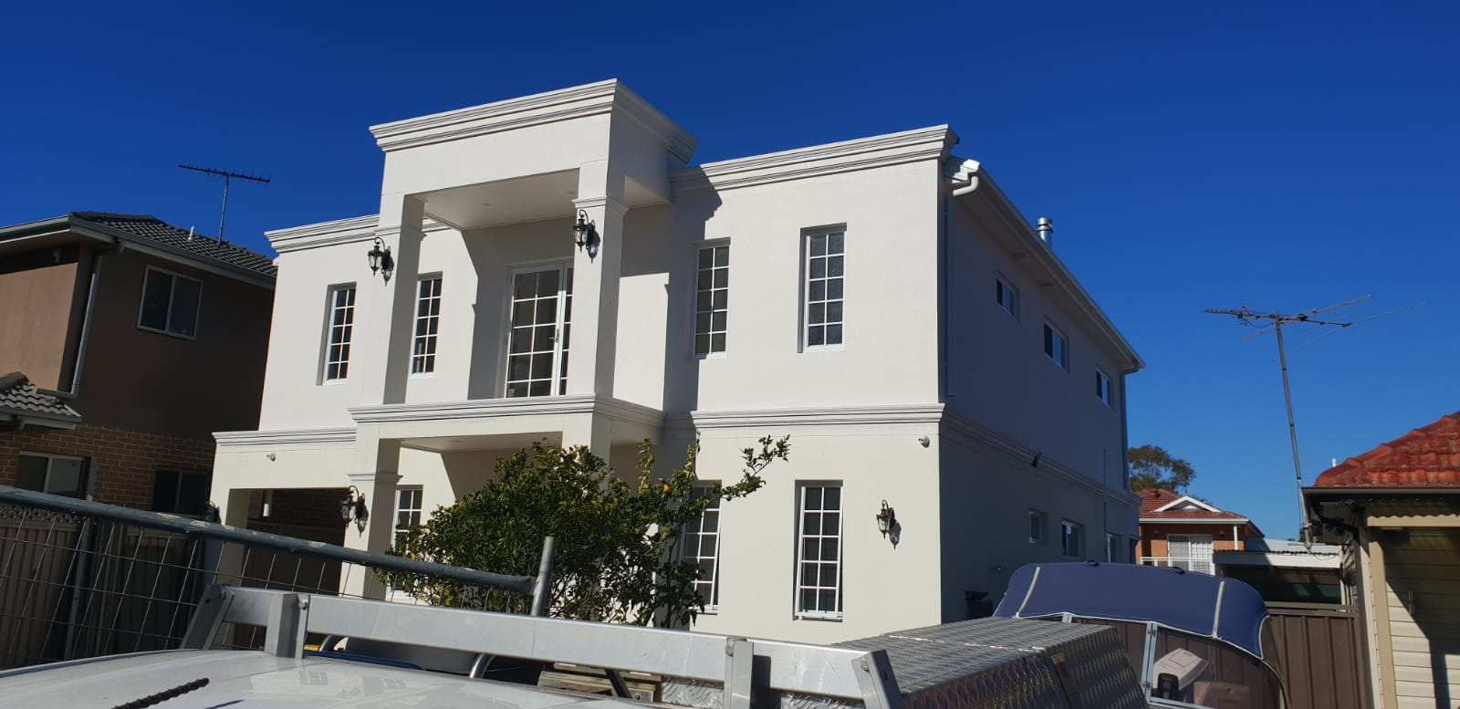 Rendering job in Sydney nearing completion